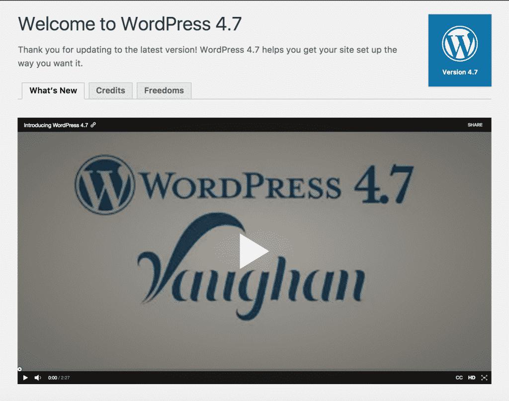 "Wordpress 4.7 ""Vaughan"" julkaistu"