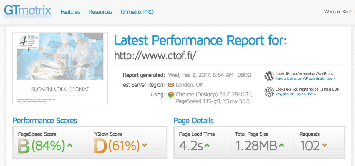 [object object] - ctof wordpress ei optimoitu - Nopeutamme Wordpress sivustojen latausaikaa