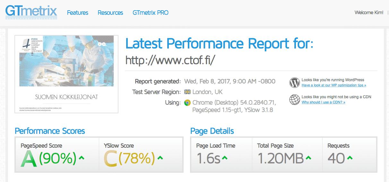 [object object] - ctof wordpress optimointi - Nopeutamme Wordpress sivustojen latausaikaa